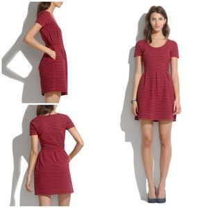 EUC Madewell Bistro Ridgestripe Red Striped Dress